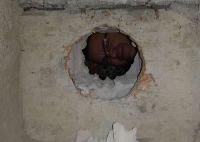 Da ist ein Loch in der Wand...