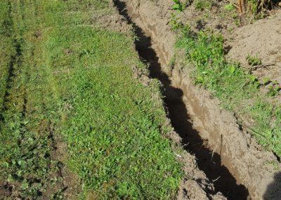 Graben für Leistensteine